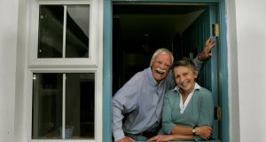 The way we were: Tony and Steph Booth at home in Cornahaw, Blacklion in 2006. Photograph: Matt Kavanagh