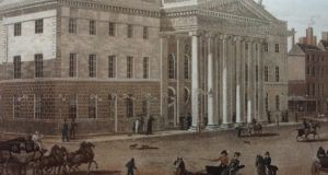 The GPO in Dublin in 1820 in an illustration by GH Jones  and Robert Havell