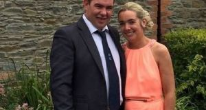 Patrick McCaffrey, seen here with his wife Helen, who died during an incident at a windfarm in Co Sligo. Photograph: Facebook