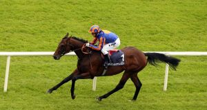 Hurricane Run ridden by Kieren Fallon lands the Tattersalls Gold Cup at the Curragh in 2006. Photo: Tom Honan/Inpho