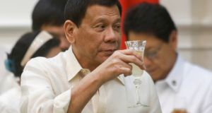 Philippine president Rodrigo Duterte: his national war on drugs has led to thousands of deaths since he took office in June. Photograph: Samrang Pring/Reuters
