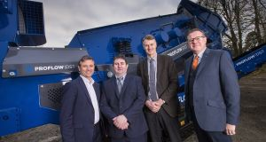 Nishi Ward, founder of Waste Systems (second left), Allen Martin, senior executive, Kernel Capital, William McCulla, Invest NI corporate finance director, and   Andy Palmer,  customer service manager, Bank of Ireland UK