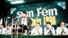 Sinn Féin president Gerry Adams addresses the Sinn Féin ard fheis in 1986. Photograph: Pacemaker Belfast