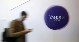 Yahoo said the cyber attack that led to the data breach took place in 2013. Photograph: Reuters