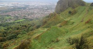 Cave Hill, Co Antrim, said to the inspiration for Jonathan Swift's Gulliver's Travels.