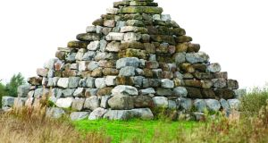 The Boora Pyramid at Lough Boora Discovery Park, Co Offaly.