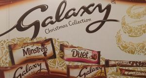 Galaxy selection box: wins the prize for having the largest amount of chocolate in the box