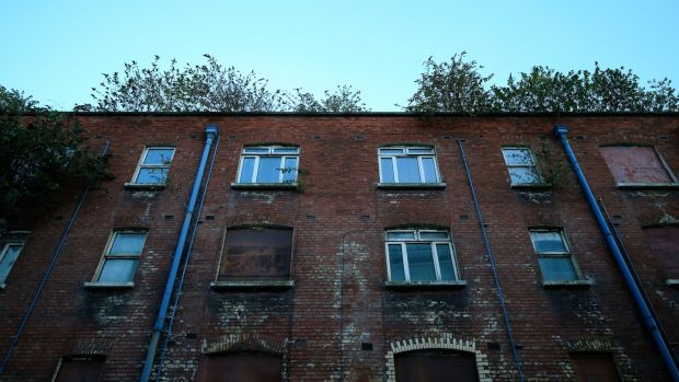Property on Moss Street in Dublin 2 has been derelict for decades. Photograph: Nick Bradshaw