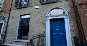 28 Blessington Street dates from 1810 and has been converted into two duplex apartments. Photograph: Nick Bradshaw