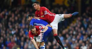 Manchester United's Chris Smalling could retun for his side's clash with West Brom. Photo: Getty Images