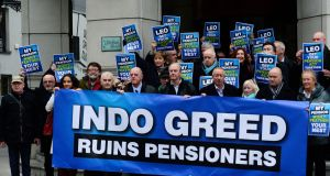 The proposed changes would impose sharp cuts on pensions which were already reduced by 40 per cent in 2013. Photograph: Cyril Byrne