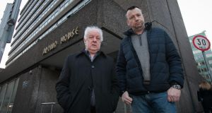 Jim Sheridan and Brendan Ogle of 'Home Sweet Home' at Apollo House at Poolbeg Street, Dublin. Photograph: Gareth Chaney Collins