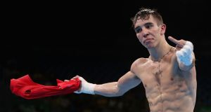 "Michael  Conlan: ""AIBA cheats, they're f**king cheats. That's me, I'll never box for AIBA again, they're cheating b****rds, they're paying everybody. I don't give a f**k for cursing on TV."" Photograph: Christian Petersen/Getty Images"