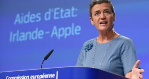 "EU competition commissioner Margrethe Vestager: ""decided to make a big call on Apple and Ireland"". Photograph: John Thys/AFP/Getty Images"
