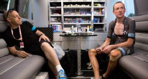 "Dave Brailsford and Bradley Wiggins: ""What was the exact process that led to Sir Bradley Wiggins being given three injections of triamcinolone?"" Photograph:  Scott Mitchell/teamsky.com via Getty Images"