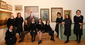 The pieces in the exhibition were selected from the British Council collection by fifth-year art students from St Oliver's Community College and Our Lady's College-Greenhills in Drogheda, Co Louth