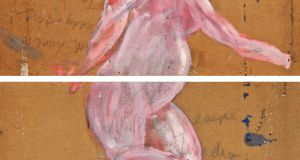 A male nude by Francis Bacon discovered on the reverse of two paintings by Tony O'Malley, which sold for £435,000