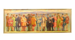 'Some Characters Seen at Cheltenham on Gold Cup Day' by Waldron West, which sold for €13,000