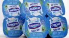 French food group Danone fell by 1.4 per cent after the  world's biggest yoghurt maker warned about sales growth. Photograph: Vincent Kessler/Reuters