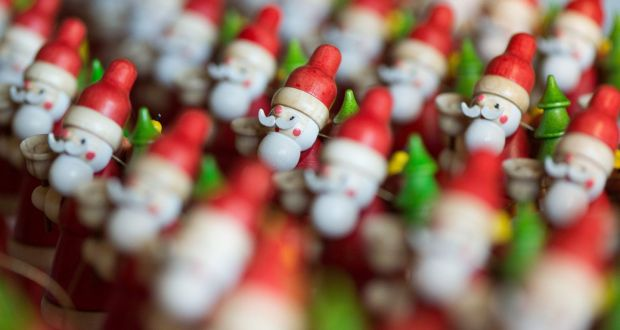as a blushing santa retreated to the brighter lights of the lounge vinny called for - Christmas Tale