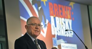 June 2016: Minister for Foreign Affairs Charlie Flanagan at a pre-Brexit conference at the  Aviva Stadium. Photograph: Brenda Fitzsimons