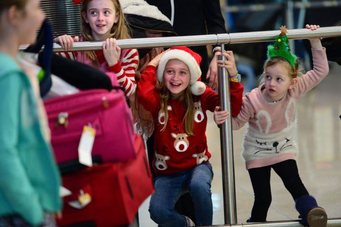 A Home For Christmas.Home For Christmas At Dublin Airport