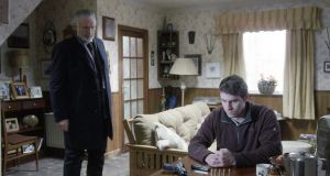 "Jim Tierney (Patrick Bergin) and Detective Rory Walsh (Chris Newman) in a scene from a forthcoming episode of TV3's ""Red Rock"""