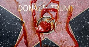 Kenneth O'Halloran's book Bing Bing, Bong Bong, Bing Bing Bing looks at reactions to the Trump star during the US election campaign.