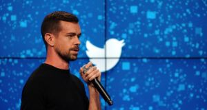 Jack Dorsey, Twitter's co-founder and chief executive, speaking at a promotional event in New York. Photograph: Bryan Thomas/The New York Times