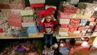 Noah Richardson (6) pictured at a Christmas party for families living in emergency accommodation ran by North Dublin Bay Housing Crisis Community and the Irish Housing Network on Sunday.  Photograph: Nick Bradshaw/The Irish Times