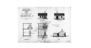 An architectural drawing on display in the House and Home exhibition
