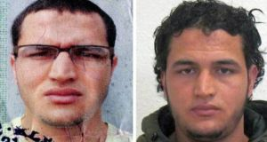 An undated handout made available by German Federal Criminal Police Office shows suspect Anis Amri who is being searched for in connection to Monday's terror attack in Berlin. Photograph: EPA/BKA