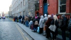 Thousands queue for food parcels in Dublin city centre