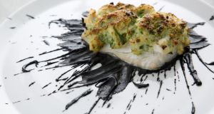 Haddock brandade with sauce Nero