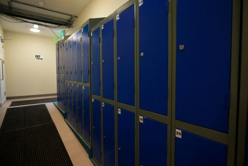 Lockers at the Peter McVerry Trust hostel at Ellis Quay, Dublin. Photograph: Nick Bradshaw