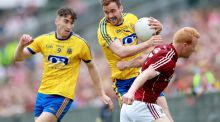 Senan Kilbride in his last appearance for Roscommon against Galway. Photograph: James Crombie/Inpho