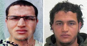 A German police photo shows Anis Amri, who is suspectd of carrying out the Berlin Christmas market attack. Photograph: EPA