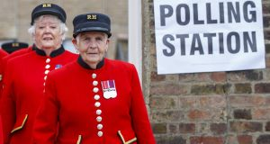 Chelsea Pensioners arrive to cast their votes in the EU referendum  in London in June. Photograph: Tolga Akmen/Anadolu Agency/Getty Images
