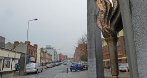 A memorial to those who died as a result of drug taking at Upper Buckingham Street, Dublin. Photograph: Eric Luke