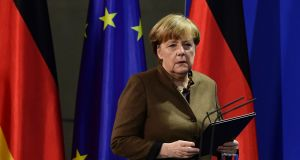 German chancellor Angela Merkel: must convince voters she is best-placed to restore Germans' deepest needs: security and control. Photograph: Tobias Schwarz/AFP/Getty Images