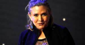 Carrie Fisher was returning to Los Angeles after being in the UK to film the third season of the British television comedy Catastrophe. Photograph:Paul Hackett/File Photo/Reuters