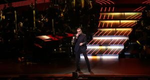 George Michael performing at the O2 in Dublin in November, 2011. Photograph: Cyril Byrne
