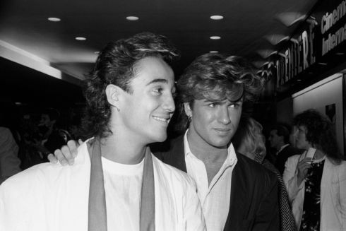 George Michael (right) with fellow band member Wham's Andrew Ridgeley in 1984. Photograph: PA Wire