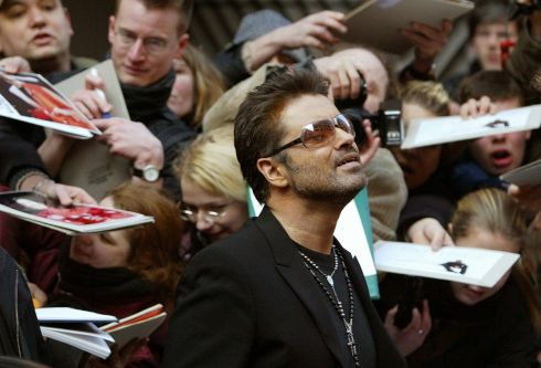 George Michael leaves a news conference for the film 'George Michael - A Different Story' in Berlin February 16th, 2005. Photograph: Tobias Schwarz/Reuters