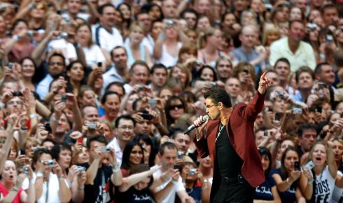 George Michael performs during a concert at Wembley Stadium in London June 9th, 2007. Photograph: Dylan Martinez/Reuters