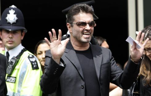 George Michael makes a statement to the press outside Brent Magistrate's Court in 2007 after he was sentenced to 100 hours community service for driving while unfit. Photograph: Andrew Parsons/PA Wire