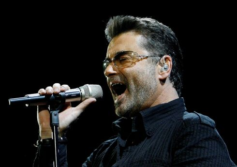 "George Michael performs in concert at the Forum during his ""Live Global Tour"" in Inglewood, California in 2008. Photograph: Mario Anzuoni/Reuters"