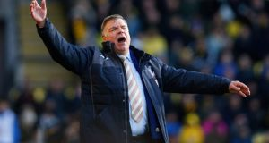 Crystal Palace manager Sam Allardyce during his team's draw with Watford. Photograph: Paul Childs/Reuters
