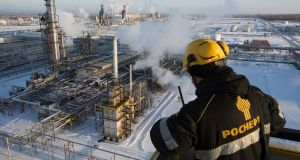 An oil refinery plant in Russia. Photograph: Andrey Rudakov/Bloomberg