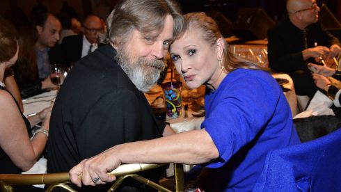 September 2014:    Mark Hamill and Carrie Fisher attend the Midnight Mission's 100-year anniversary Golden Heart Gala held at the Beverly Wilshire Four Seasons Hotel  in Beverly Hills, California.  Photograph: Araya Diaz